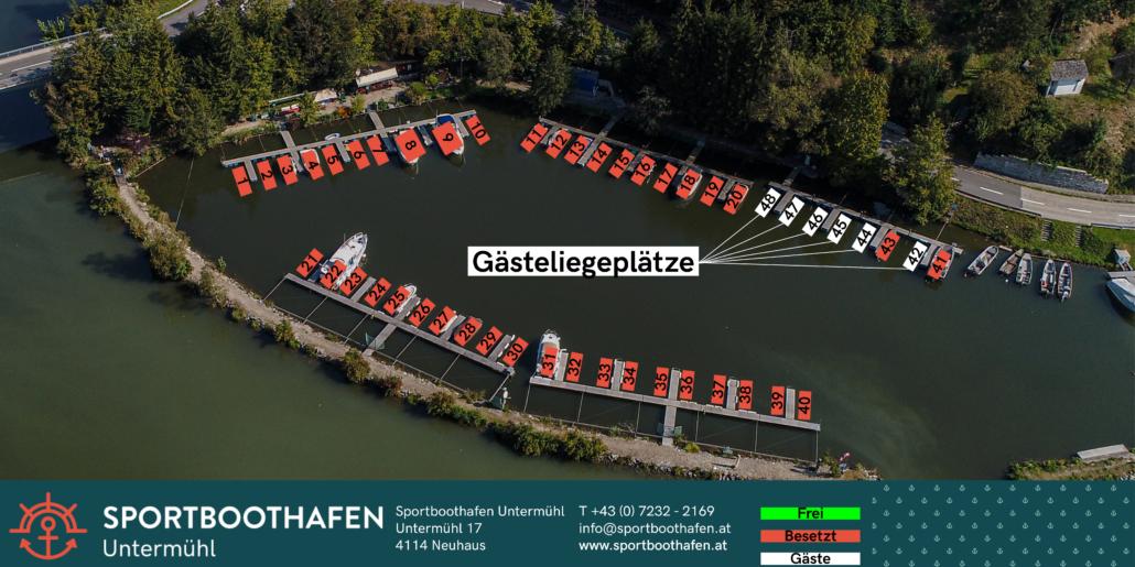 Sportboothafen Untermühl Gästeliegeplätze